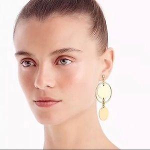 J Crew Double Disc Drop earrings
